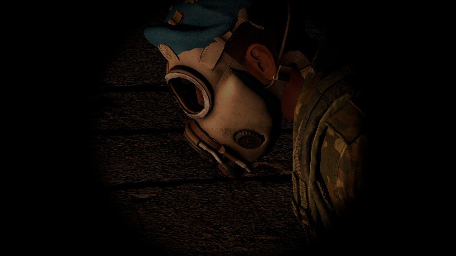 Sad UN soldier