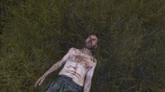 Zombie chilling in the grass