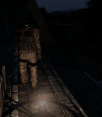 Felix in the dark.