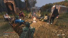 Campfire with the town.