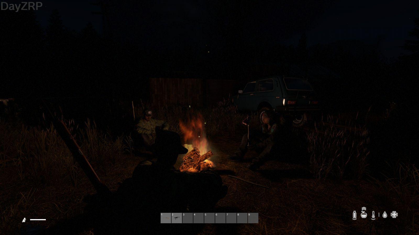 Nice gathering around the fire
