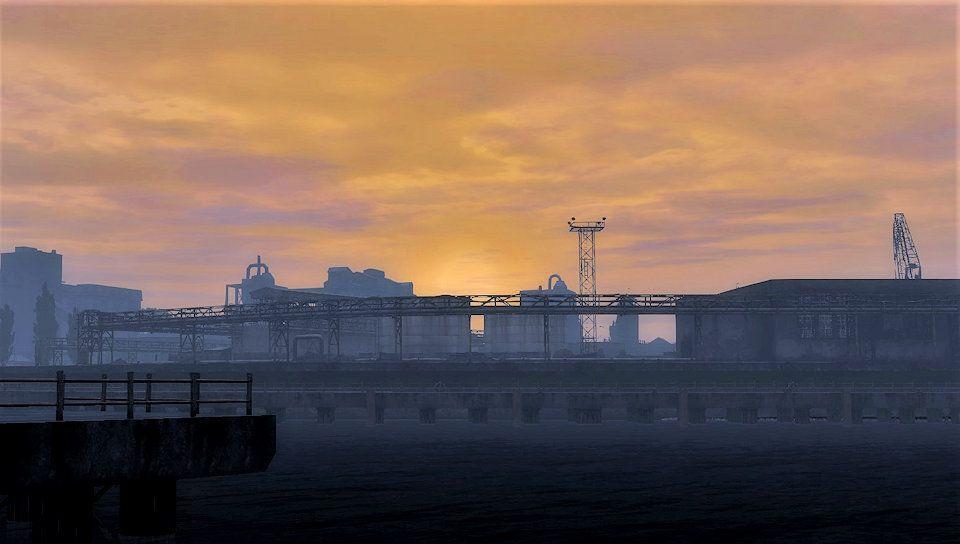 Sunrise at the docks