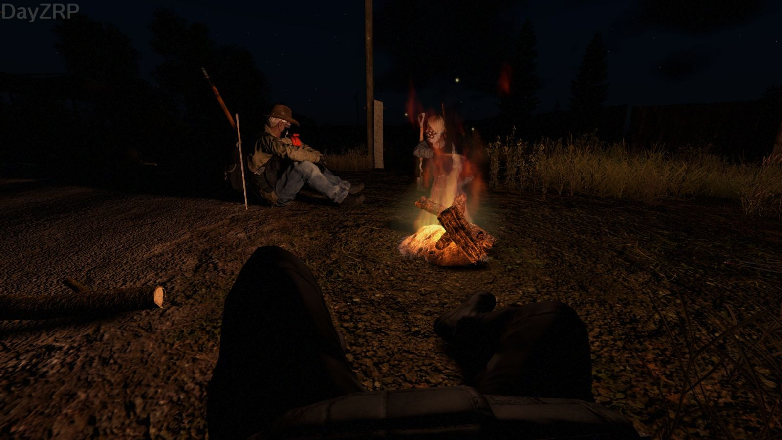 Night by the fire.