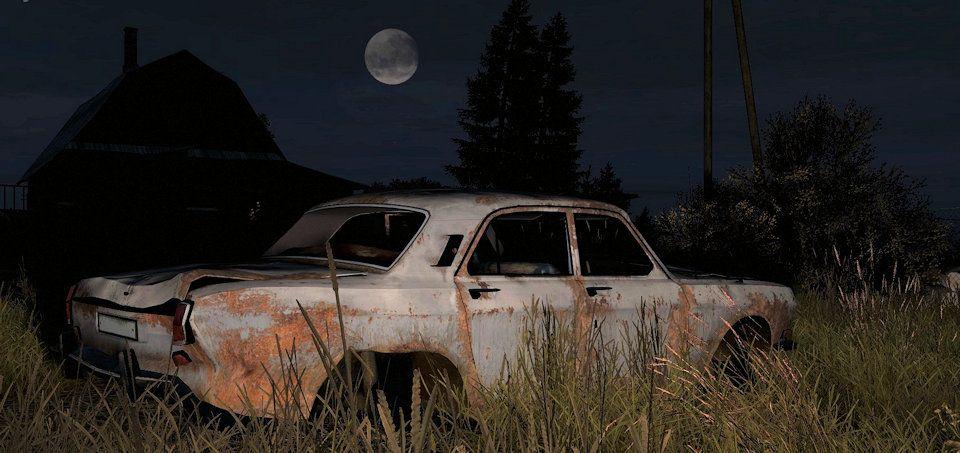 Abandoned car in Kamensk