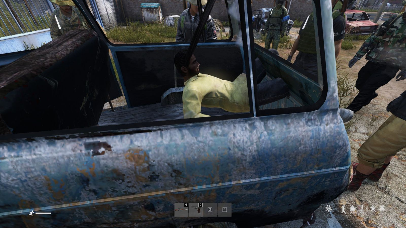 I locked this man in a van