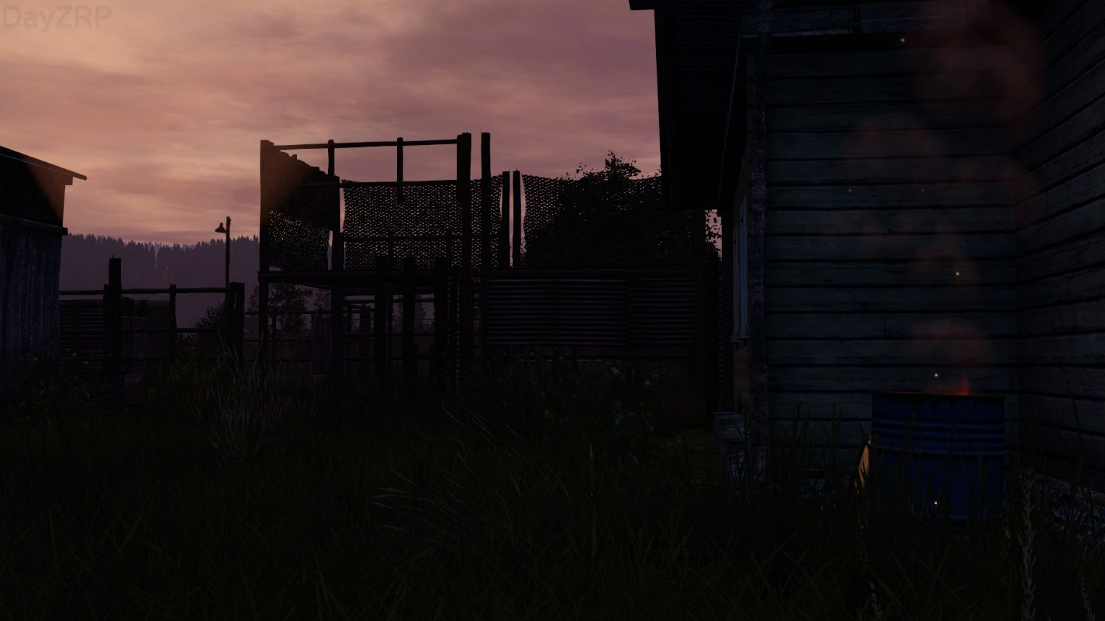 Sunset at a camp