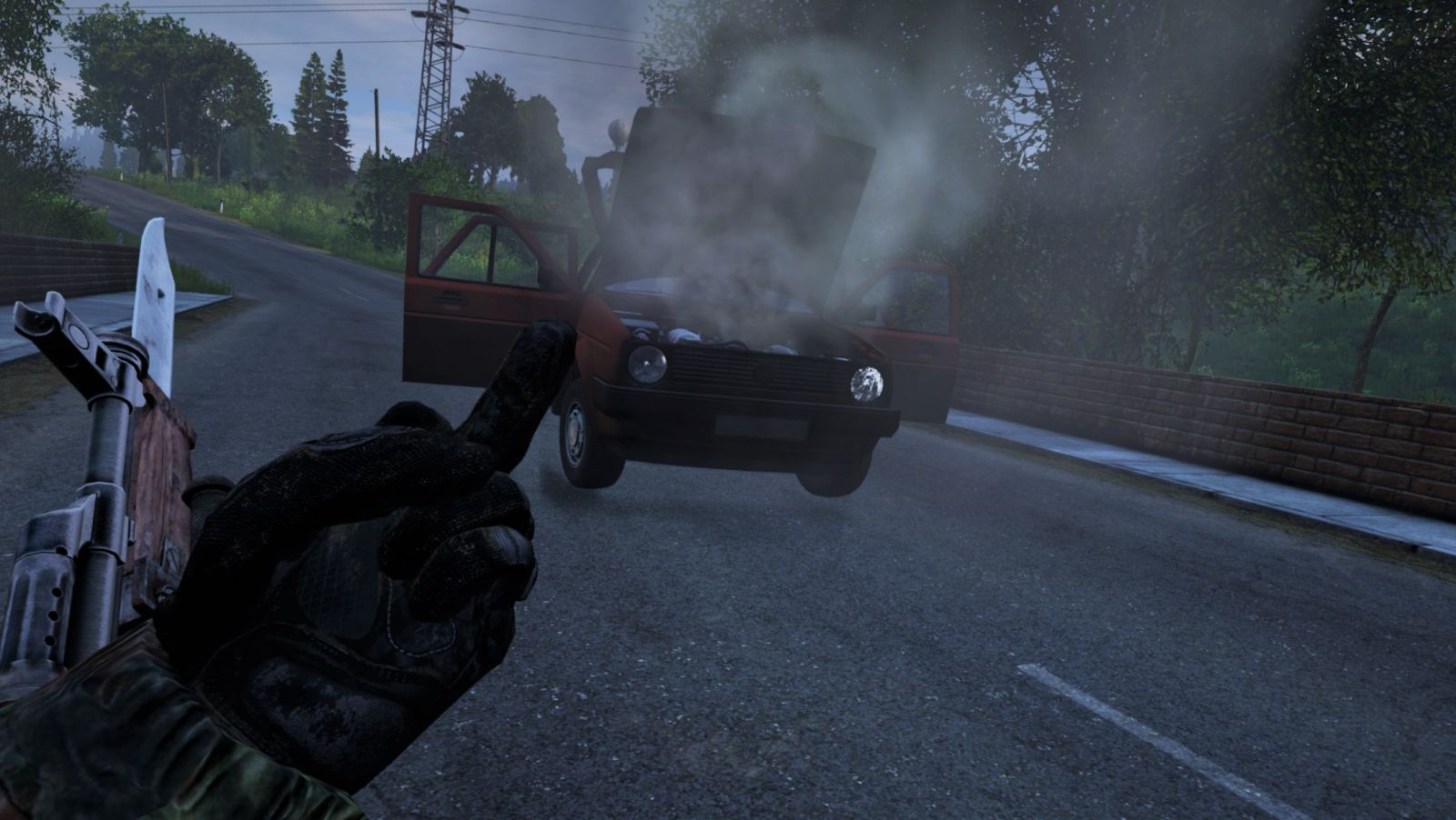 Learning that car radiators are in DayZ, the hard way...