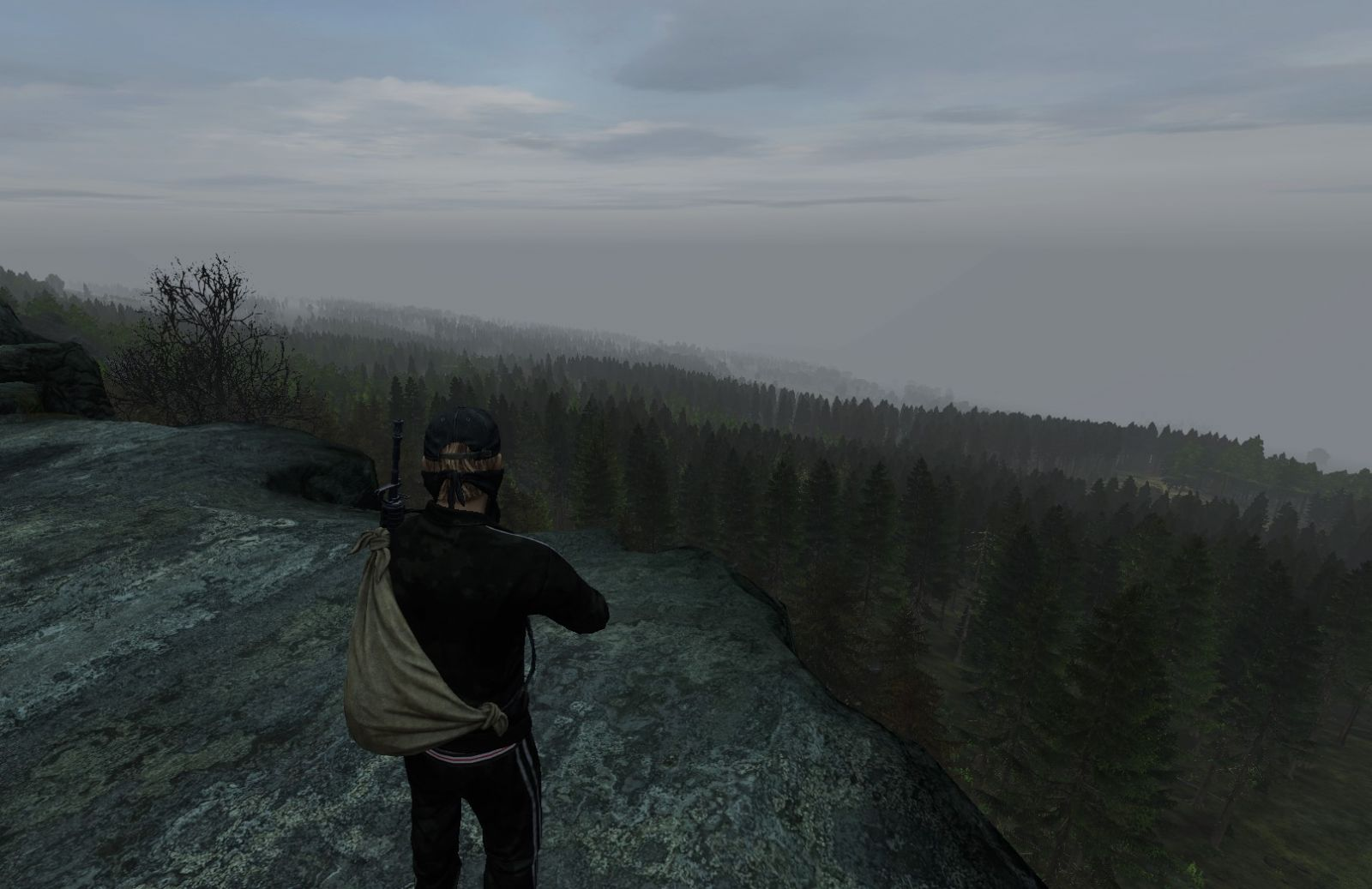 Kyle admiring the view with his new friend Panzer <3
