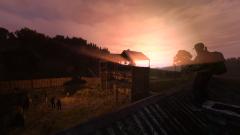 The rising sun.