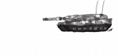 A Tank that Panzer drew Kyle before she left the Fifty Two