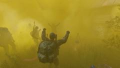 Smoke grenade rave