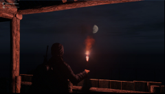 "Emmanuel and his ""Lova"" watching de moon."