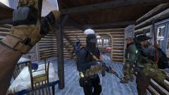 Taken hostage.