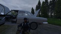 Broken down car.