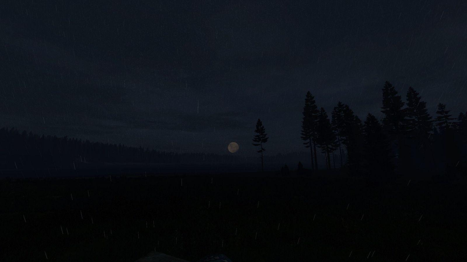 Raining during a full moon.