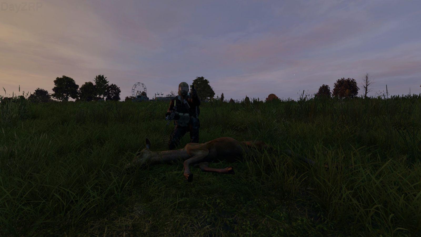 Proud hunter