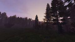 Sunrise by a lake