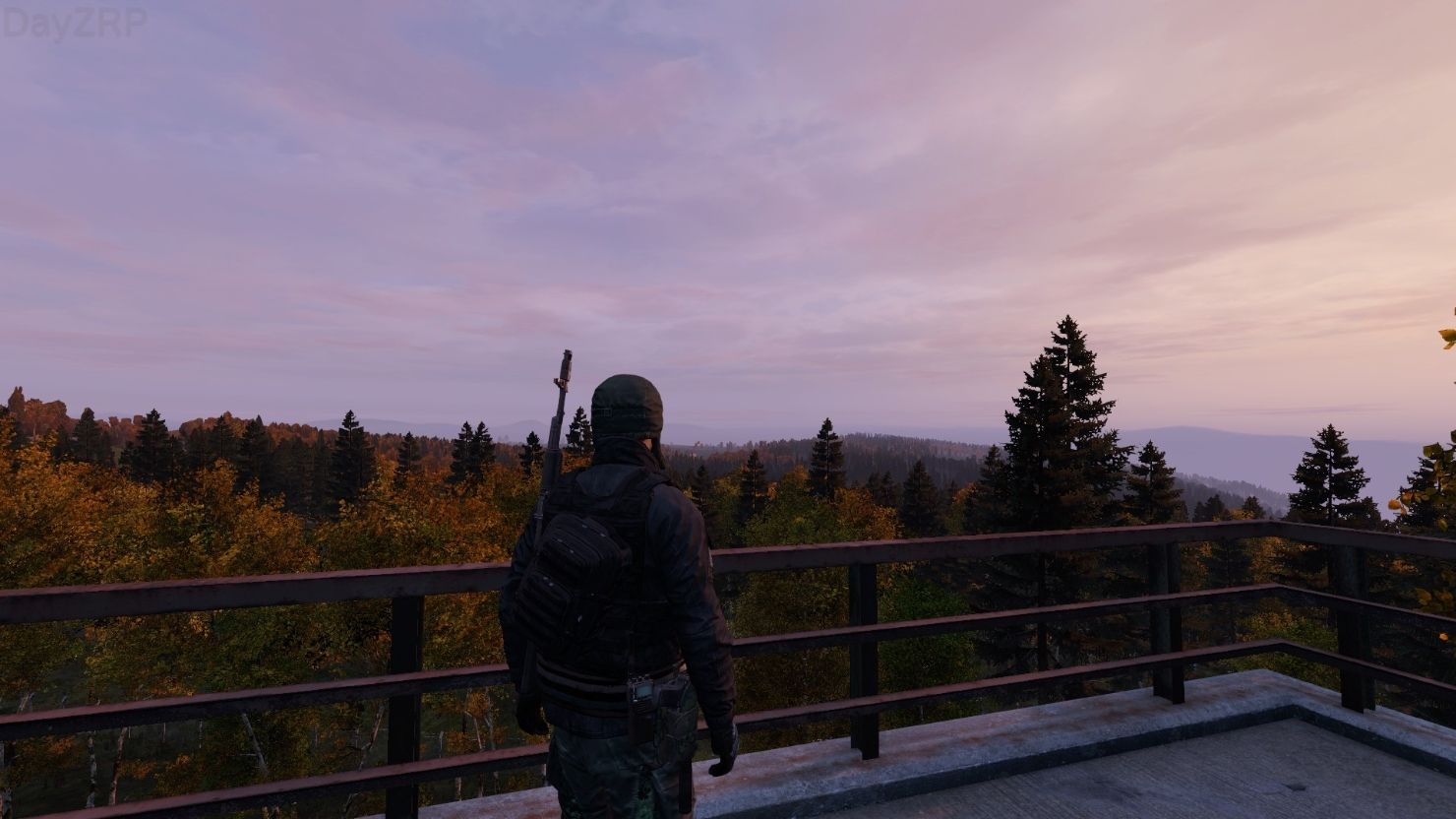 The morning rises.