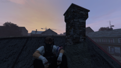 chilling on the roof