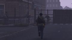 He walkin away
